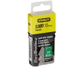 Stanley Tra204T 1/4 Inch Light Duty Narrow Crown Staples, Pack of 1000(Pack of 1000)