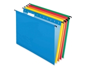 Sure Hook Hanging File Folder, Assorted ( Blue, Red, Yellow, Bright Green, Orange), Letter, 20 Folders Per Box, 6152 1/5 Asst