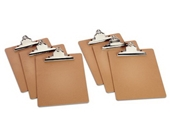 TOPS Masonite Clipboards, 9 x 12.5 Inches, Pack of Six (25400)