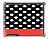 Uncommon LLC Stripe Dots Tomato Deflector Hard Case for iPad 2/3/4 (C0010-GD)
