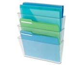 Universal 53682 3 Pocket Wall File Starter Set, Letter, Clear