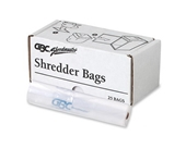 Wholesale CASE of 10 - Swingline Tear-resistant Plastic Shredder Bags-Poly Shredder Bags,Medium Up To 19 Gallon,25/BX,Clear