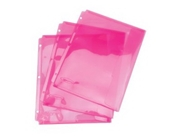 Wilson Jones Think Pink Tabbed Envelope, 20 Sheet Capacity, 3 Hole Punched, 3 Pack (W61010)