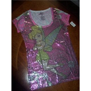 Disney World Parks exclusive Tinkerbell Sequin Coiture Tee Shirt