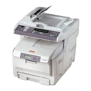 Okidata C5550N Color Laser Printer Fax Copier & Scanner with Network Card
