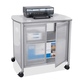 Safco Impromptu Deluxe Machine Stand with Doors Gray (1859GR) [CD-ROM]