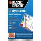BLACK + DECKER TimeShield Thermal Laminating Pouches, Busine...