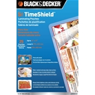 BLACK + DECKER TimeShield Thermal Laminating Pouches, Menu, ...