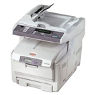 Okidata C5550N Color Laser Printer Fax Copier & Scanner with...